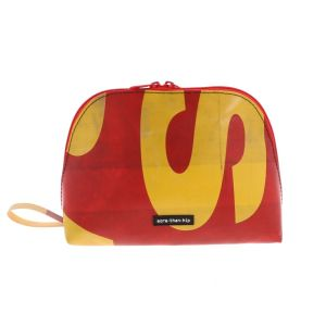 Medium-sized toiletry bag made from recycled truck canvas – Lucca