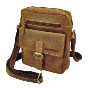 Tonto – medium shoulderbag of brown vintage ecoleather