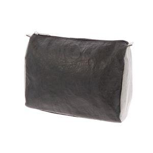 Lichtgewicht Tyvek© toilettas Kelly - zwart/grijs