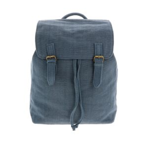 Backpack of handwoven cotton - Caha - slate blue
