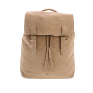 Backpack of handwoven cotton - Caha - beige