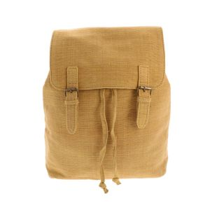 Backpack of handwoven cotton - Caha - mustard yellow