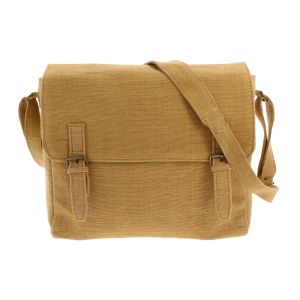 Shoulder bag of handwoven cotton - Bihan - mustard yellow