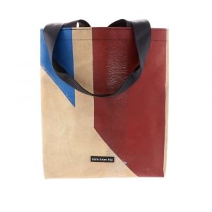 Strong shopper bag from recycled truck tarpaulin