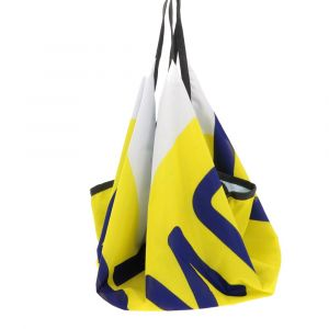 Sports bag or swimming bag made from recycled flags