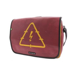 Sturdy 15,6 inch laptop bag from recycled truck tarpaulin - Rome