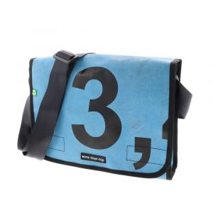 Unique, waterproof bag made from truck tarps. Upcycling!