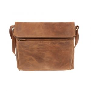 Work bag with tablet compartment - vintage brown eco-leather - Aberdeen