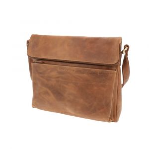Work bag with tablet compartment made of vegatable tanned leather