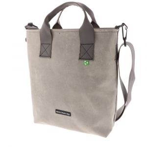 Shopper bag made from recycled truck tarpaulins