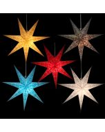 Paper star Ø 60 cm  for X-mas Sumana - incl. lighting set