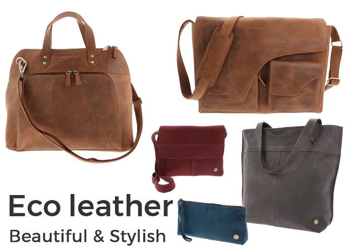 Eco leather bags and accessories