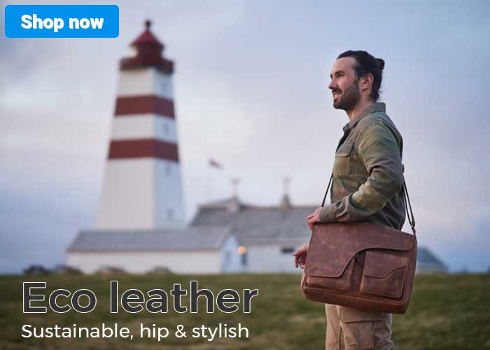 Bags of eco leather: sustainable, eco & fair