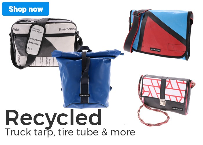 Recycled bags and accessories