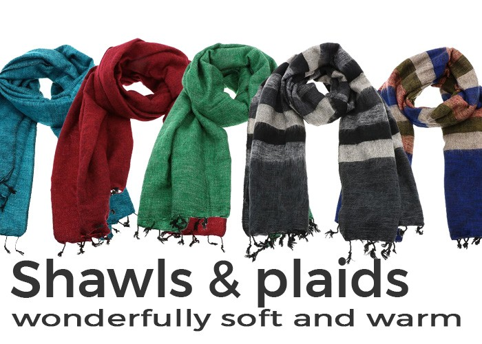 Shawls and plaids from Nepal