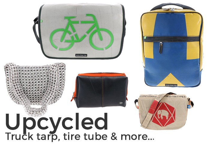 Bags of recycled materials eco sustainable